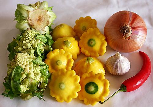 10月26日晚餐-紅黃綠三色 Pasta
