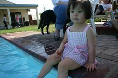 "Summer Pics ((Concepts by) Nicholas Daniel ""@tak"" Lopez) Tags: california ranch pink summer dog baby cute wet water pool girl k toddler labrador sofia retriever suit fresno bathing splash tarzan chlorine laxy"