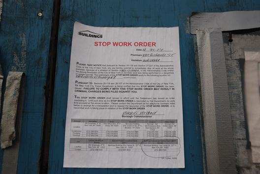 Revere Stop Work Order