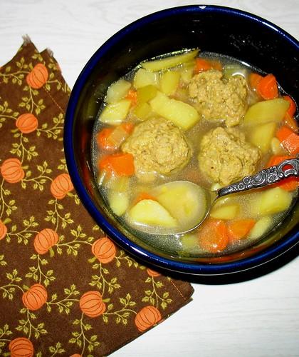 Turkey Curry Meatball Soup