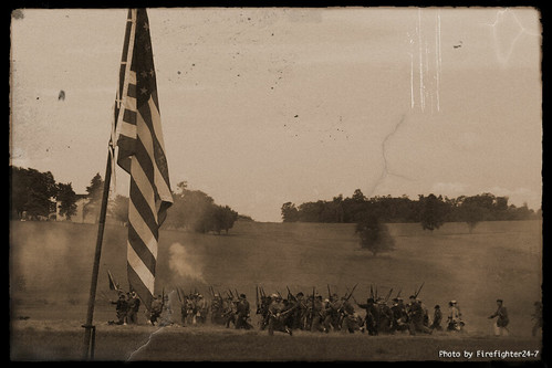 Stars & Stripes & Confederate charge