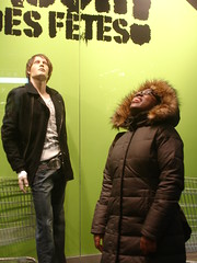 Me + Fred... (HalfCrazyGirl) Tags: winter woman canada black silly green girl smile mall shopping movie funny gallery place quebec montreal african coat smith will fred stephanie hood dummy legend 2007 willsmith hcg iamlegend