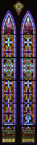 Sainte Genevieve Roman Catholic Church, in Sainte Genevieve, Missouri, USA - stained glass window 1
