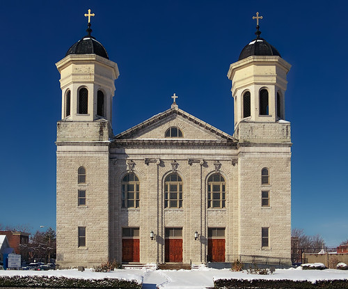 Saints Teresa and Bridget Roman Catholic Church, in Saint Louis, Missouri, USA - exterior