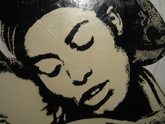 Face Detail (Dr Case) Tags: madrid africa woman art face stencil exhibition pantarhei noaz