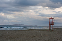 no life, no guard (macropoulos) Tags: beach greece crete canonef35mmf2 iraklion guardtower 250v10f abigfave canoneos400d ammoudara