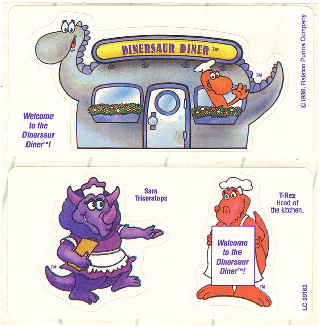 Dinersaurs Cereal Stickers