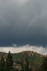 Mount Rubidoux Shinning Through A Break in the Clouds