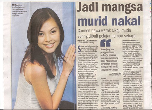 Carmen Soo and KURUS in Metro Harian 1