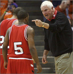 Bob Knight yelling at Indiana player