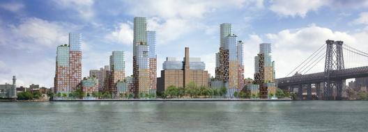 View from East River Park The New Domino credit Vinoly x528