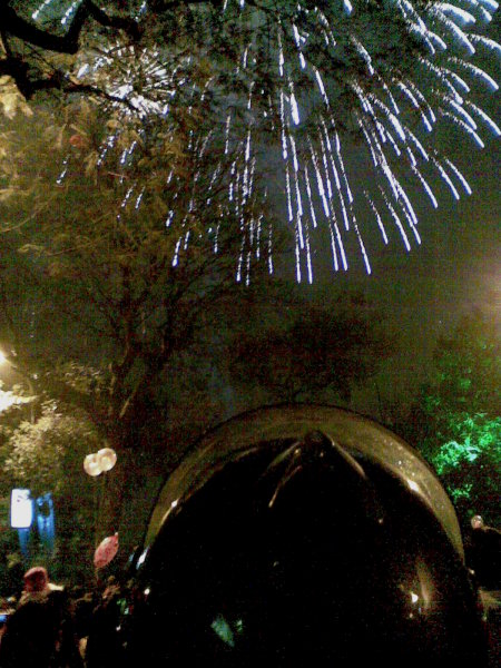 Firework at Hoan Kiem lake