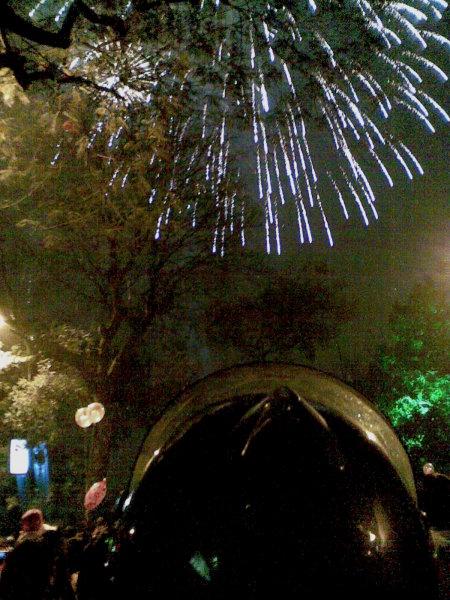 Firework at Hoan Kiem lake