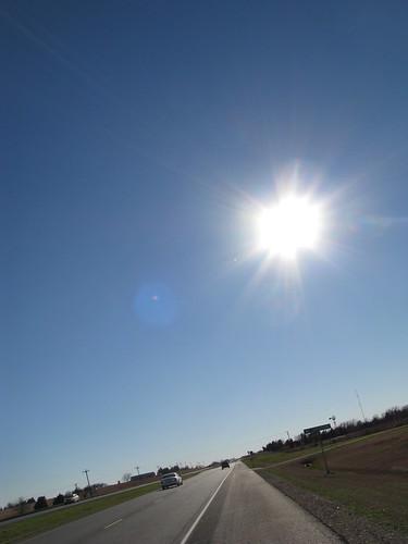 Hot afternoon sun near Burton, Texas, USA