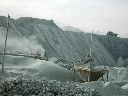 Mina de amianto en Shimiankuang (China) (Foto: CentralAsianTraveler)
