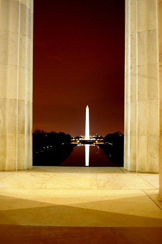 Washington Monument At Night with Vivitar 24mm f/2.8 manual in K mount
