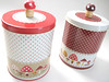 :: Decole  Anticca Canisters  :: (Warm 'n Fuzzy) Tags: red brown cute mushroom mushrooms tin japanese collection container canister polkadot zakka canisters decole woden decoleanticca anticca