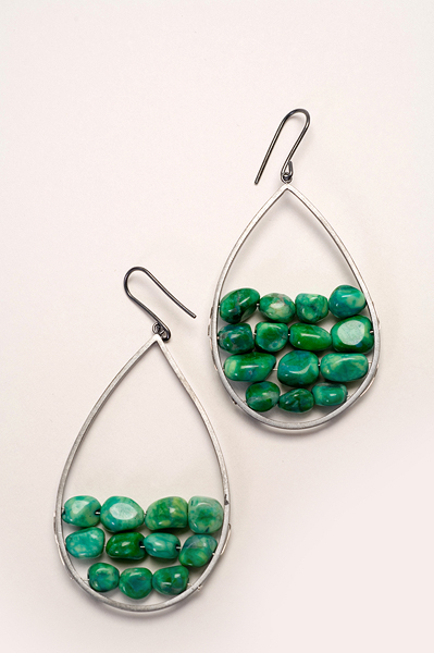 sliver and dyed howlite earrings.jpg