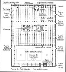 Planta Mezquita de Cordoba
