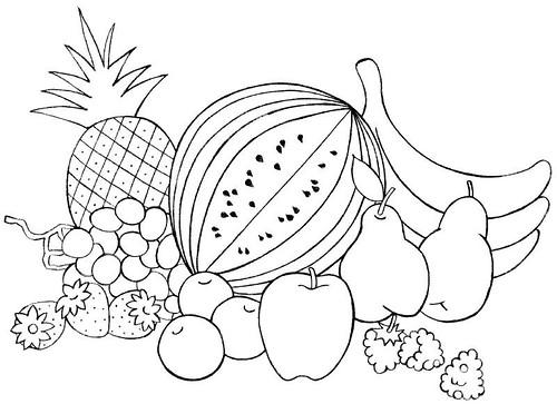 El Bodegon De Frutas Para Colorear Imagui