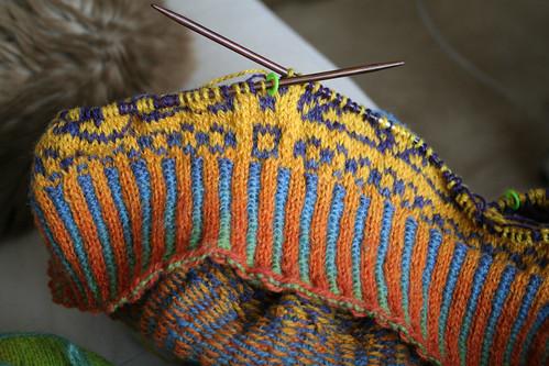Knitting Ribbing With Two Colors : My nemesis corrugated ribbing