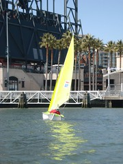 Herb Meyer sailing BAADS green Liberty in McCovey Cove 4-5-2008 010 (BAADS) Tags: mccoveycove accessliberty baads herbmeyer