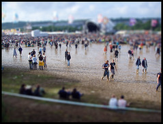 Glastonbury fake tilt-shift effect (Luke_23) Tags: canon toy 350d town amazing mud flood fake glastonbury shift glastonburyfestival tilt effect 2007 tiltshift tiltshiftfake tiltshift12