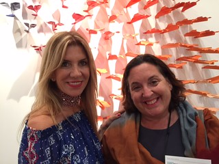 Galleria Ca' D'oro owner Gloria Porcella with collector Danette Anderson at the Wynwood VIP opening night