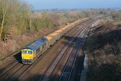 66742 Oakley (NB Railways) Tags: 66742 class66 gbfr oakley bedfordshire mml midlandmainline freighttrain
