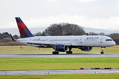 N712TW Boeing 757-2Q8W Delta Air Lines MAN 20FEB17 (Ken Fielding) Tags: n712tw boeing b7572q8w deltaairlines aircraft airplane airliner jet jetliner