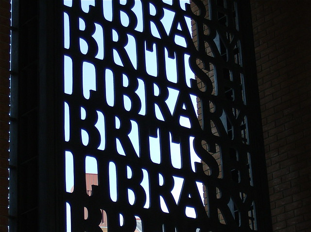 THE BRITISH LIBRARY ENTRANCE GATE