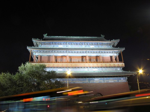 Bell Tower at night, Beijing