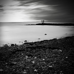 Gone Fishing (John Ormerod) Tags: longexposure sea blackandwhite bw beach monochrome seaside fishing nikon filter le morecambebay heysham nd110 d7000 10stopfilter