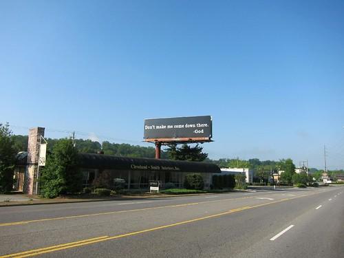 Funniest God billboard