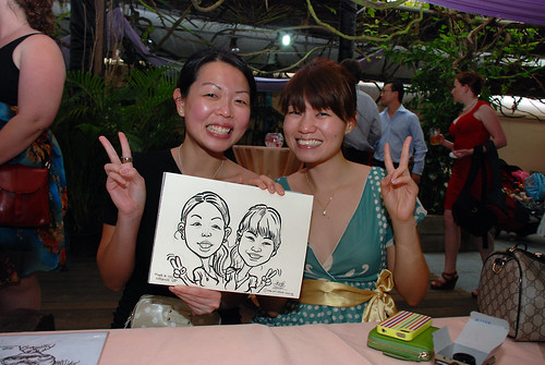 Caricature live sketching for Mark and Ivy's wedding solemization - 6