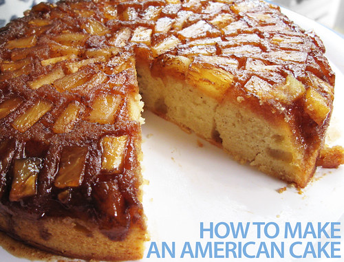 Pineapple Upside-Down Cake (with title)