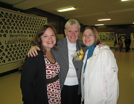 Marybeth, Sr. Pat and Sarah