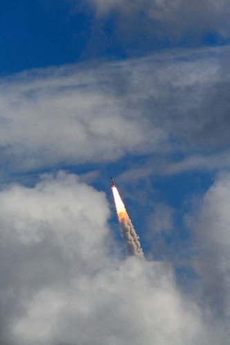 Space Shuttle Discovery - Punching Through - Mission STS-120 - 10.23.2007