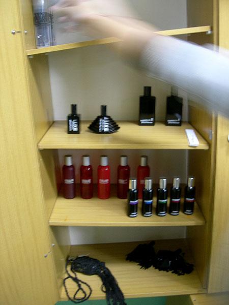 Perfumes counter