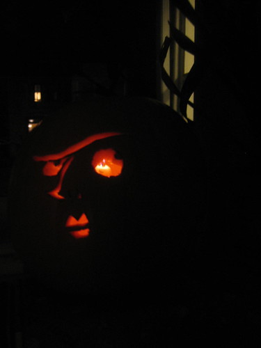 Cyril Root jack-o-lantern by Rhea Patton