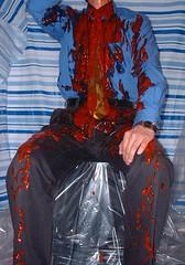 bet011 (splishsplash1123) Tags: ketchup messy wam shavingcream gunge shirtandtie lostbet