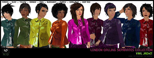 [MG fashion] London Calling Separates Collection - Vinil jackets