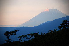 My daily companion (amirjina) Tags: sunset beach japan volcano fuji hills mount amir getty fujisan layers vis shizuoka  jina numazu   senbonhama  amirjina