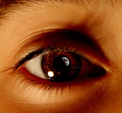 The world through my eyes (FatoOoma Qatar ~) Tags: world life camera people moon black macro eye love me closeup canon dark lights photo eyes focus flickr day alone sad darkness image time you tag dream picture tags best hate lonely fav fatma doha qatar 2007 sadder flickcom 400d braown fatoooma saddens