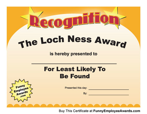 Printable certificates printable certificates of the loch ness award