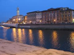 pisa (luzam) Tags: italy architecture night italia pisa tuscany arno arcitecture toscana notte architettura notturno
