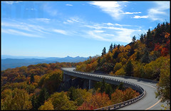 Linn Cove Viaduct, Milepost 304 (zmaerdstyle) Tags: road autumn mountains color fall leaves catchycolors nc northcarolina 2006 viaduct parkway 10d blueridgeparkway blueridge 304 milemarker 2470mm ncmountains linncoveviaduct milepost304