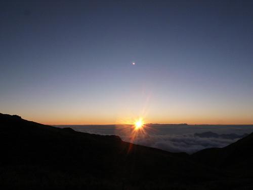 奇萊南華:快到奇萊南峰路上的日出