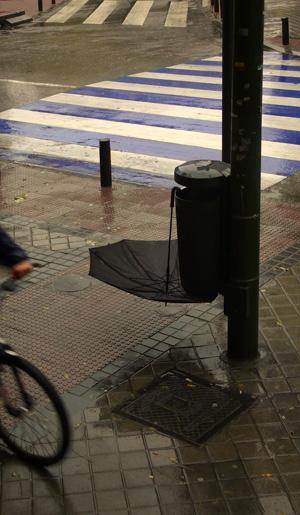 Invierno, día de lluvia