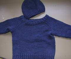 baby hat and sweater for new nephew